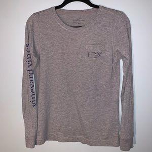 Vineyard Vines Grey Long Sleeved T-shirt XSmall